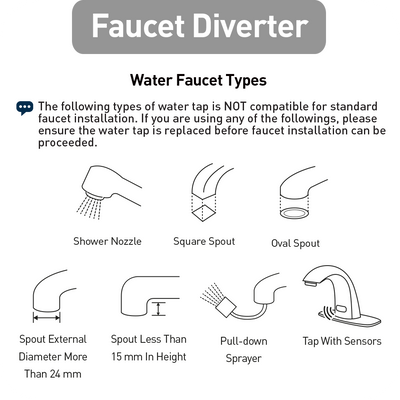 Faucet Diverter (Made In Korea) - NEW (3896472010824)
