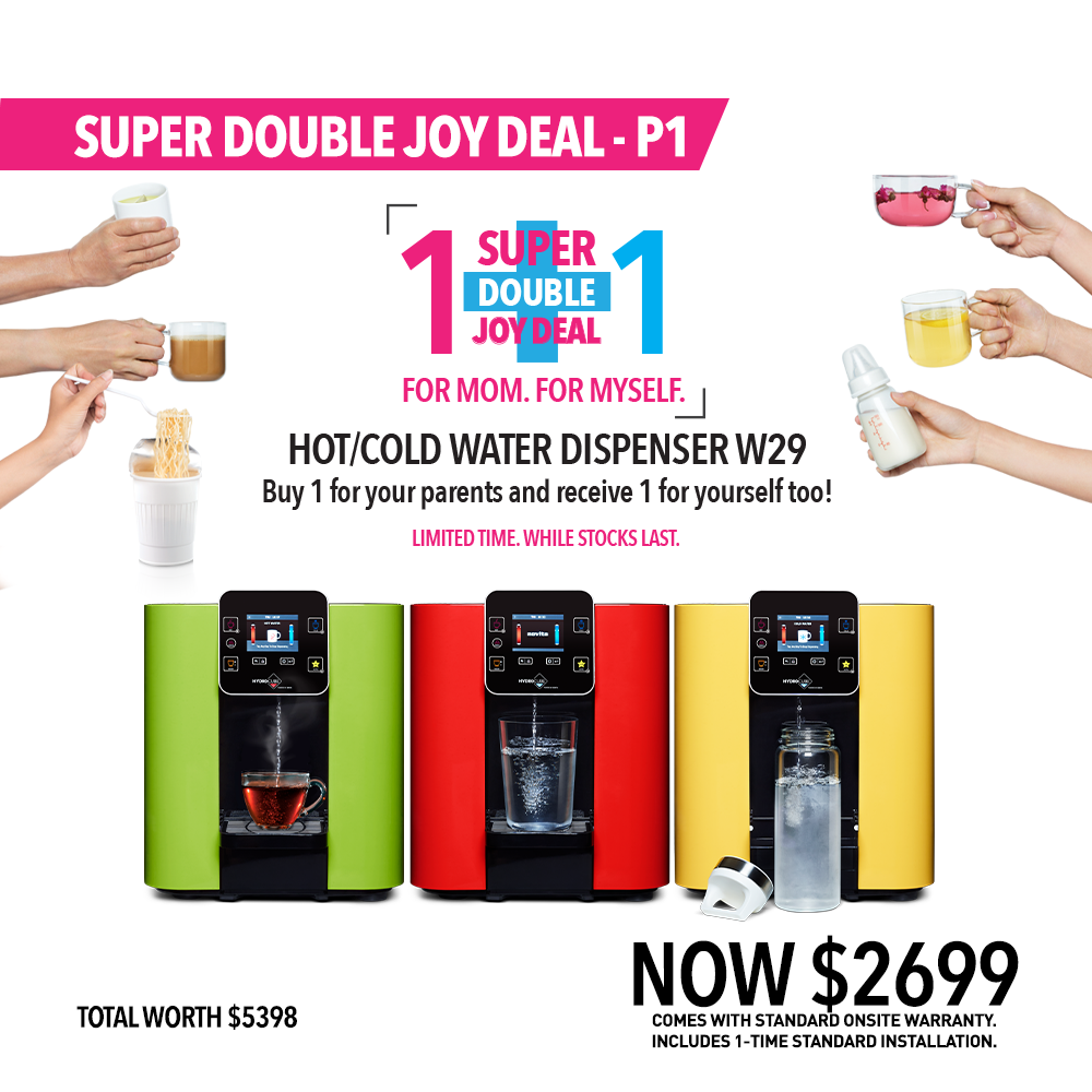 Super Double Joy Deal P1: HydroCube™ Hot/Cold Water Dispenser W29 (1+1)