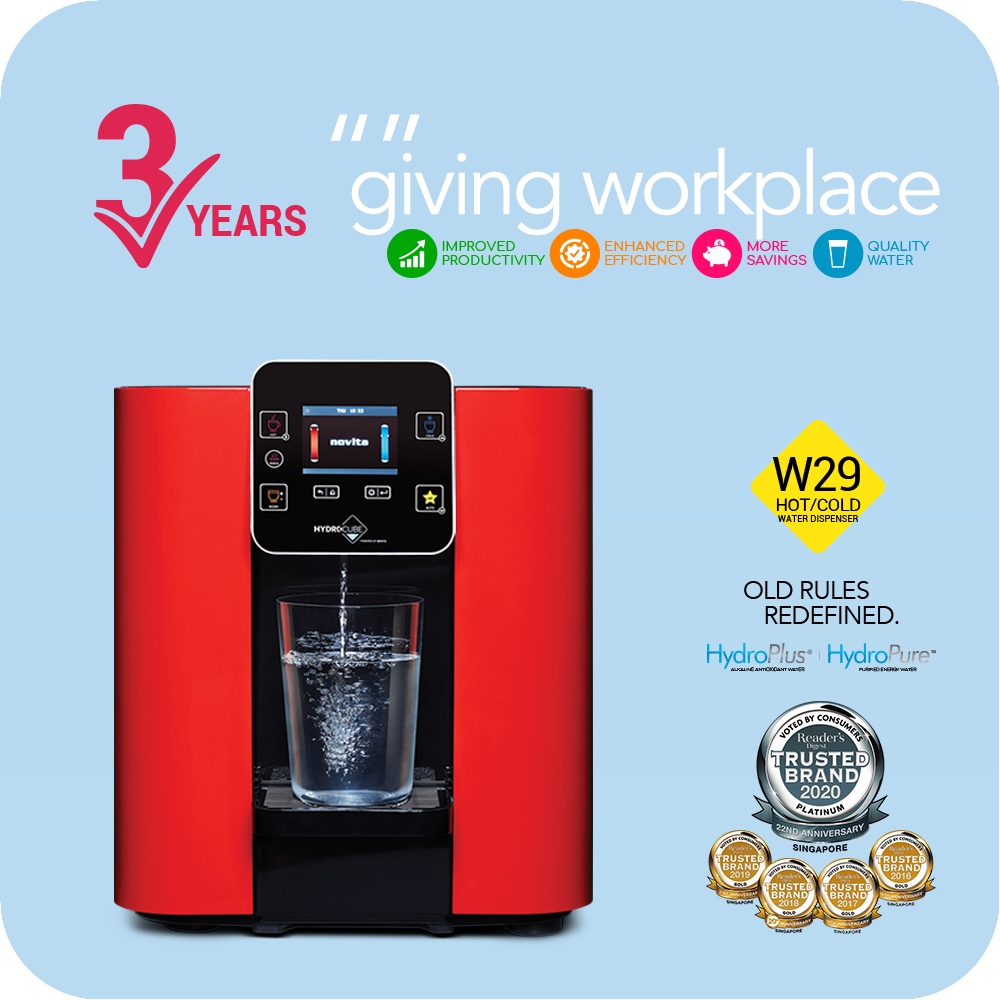 3 Year Workplace Leasing: Hot & Cold Water Dispenser W29-12M (Installation Included)