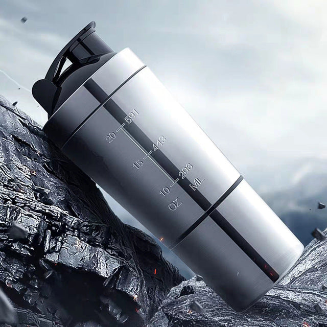 New Stainless Steel Shaker Bottle-AndreaZoe