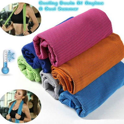 1 Pcs Sports Towel Survival Gear Ice Cooling Towel for Outdoor Sports, Workout, Fitness Gym Yoga Pilates Travel Camping
