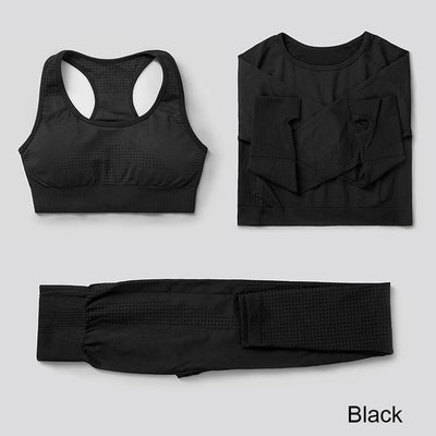 3Pcs Seamless Yoga Set