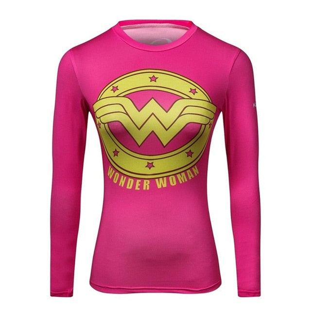High Quality Woman T shirt Compression Tights Women's 3D Printing Sports T-shirt Dry Quick Gym Fitness jogging Yoga Shirts
