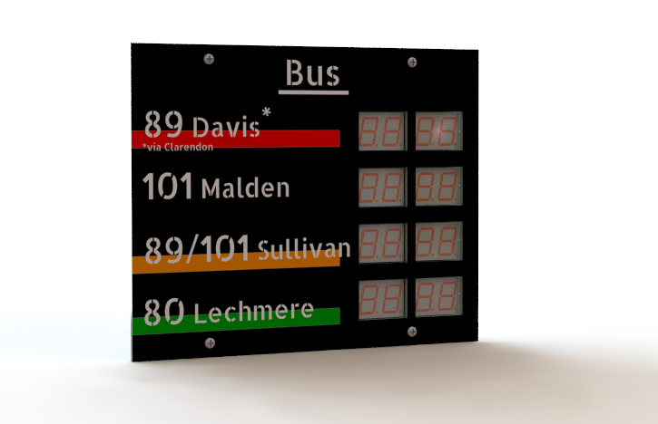 Bus Sign Progress 2