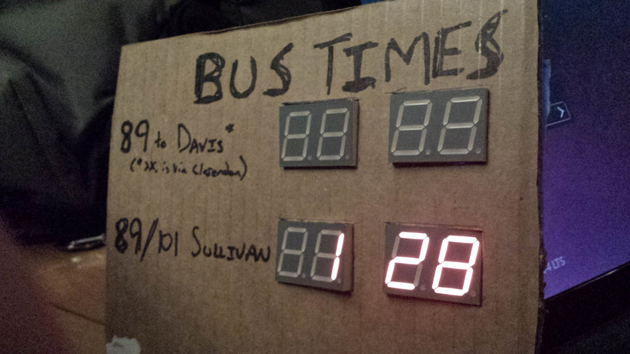 Bus Sign Progress