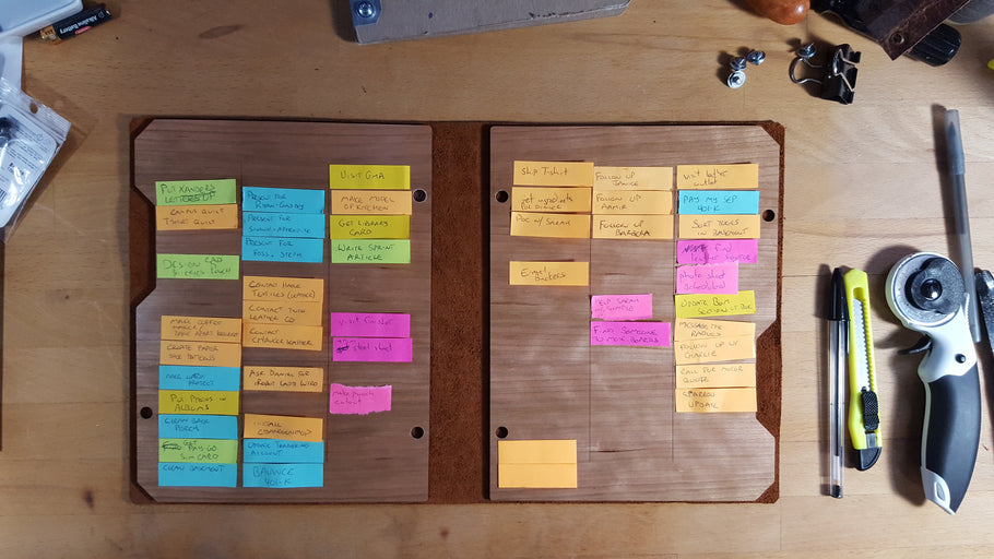 How to use a personal SCRUM board