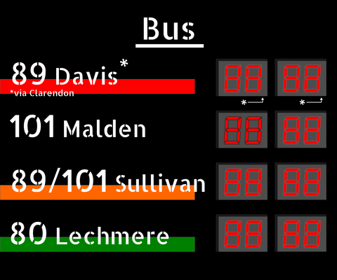 Bus Sign Graphics