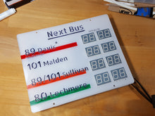 Model AWK-108 Bus Sign