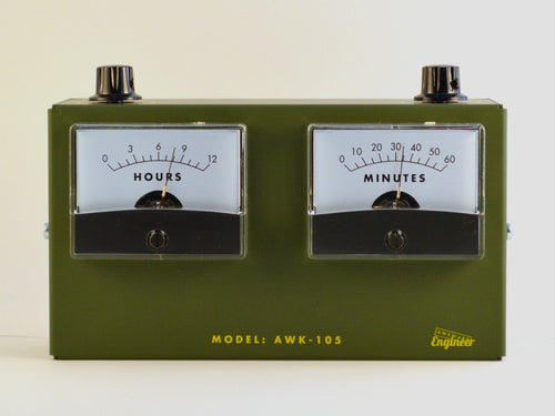 Model AWK-105 Analog Voltmeter Clock