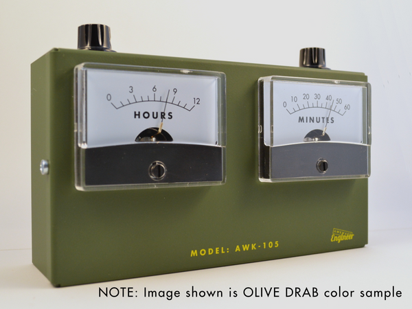 MODEL AWK-105AL Analog Voltmeter Alarm Clock