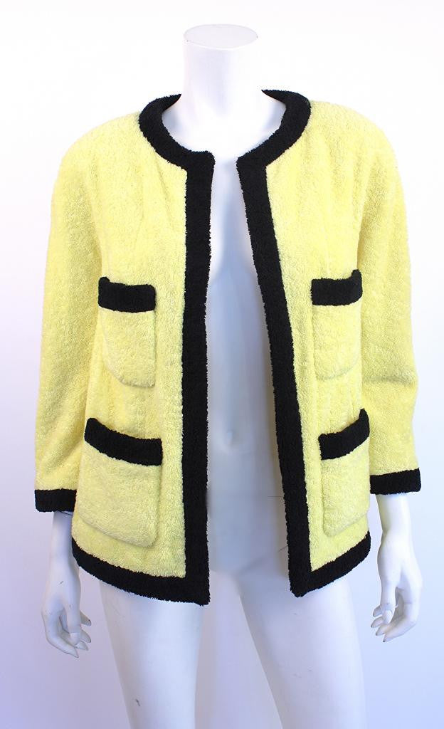 1992 Vintage Chanel Terry Cloth Jacket