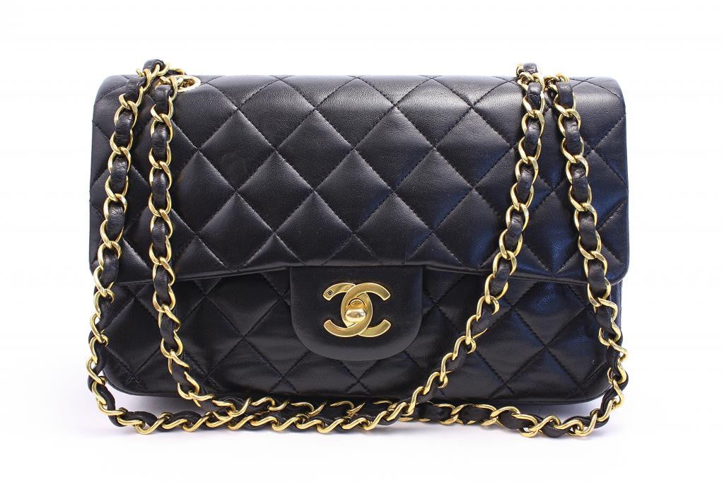 Vintage CHANEL Black Double Flap Handbag