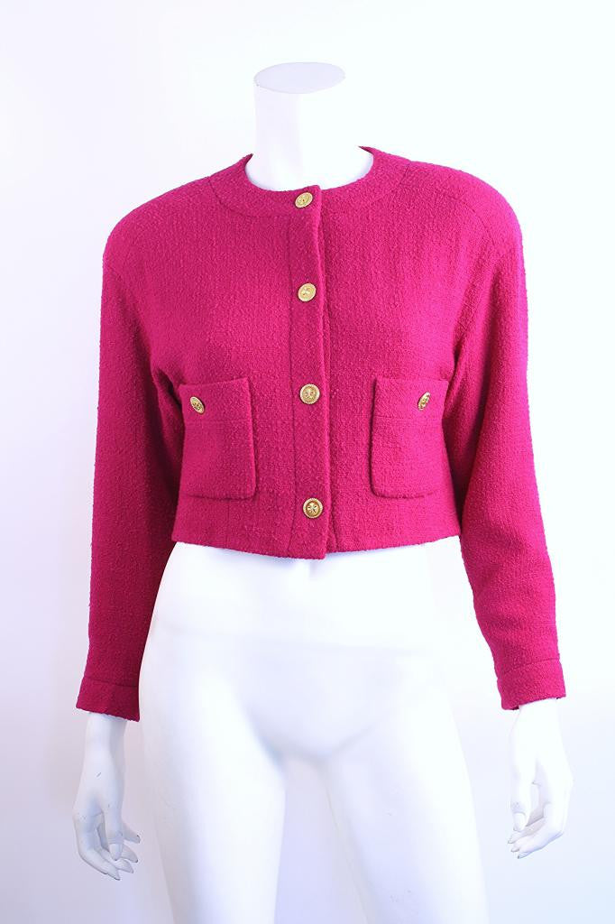 Vintage Chanel Cropped Boucle Jacket