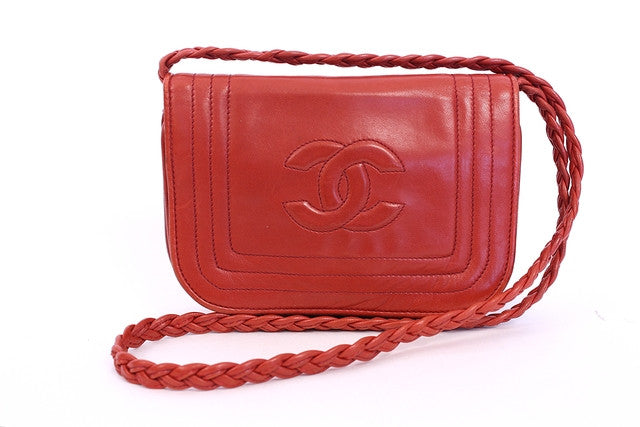 Vintage Chanel Red Flap Bag