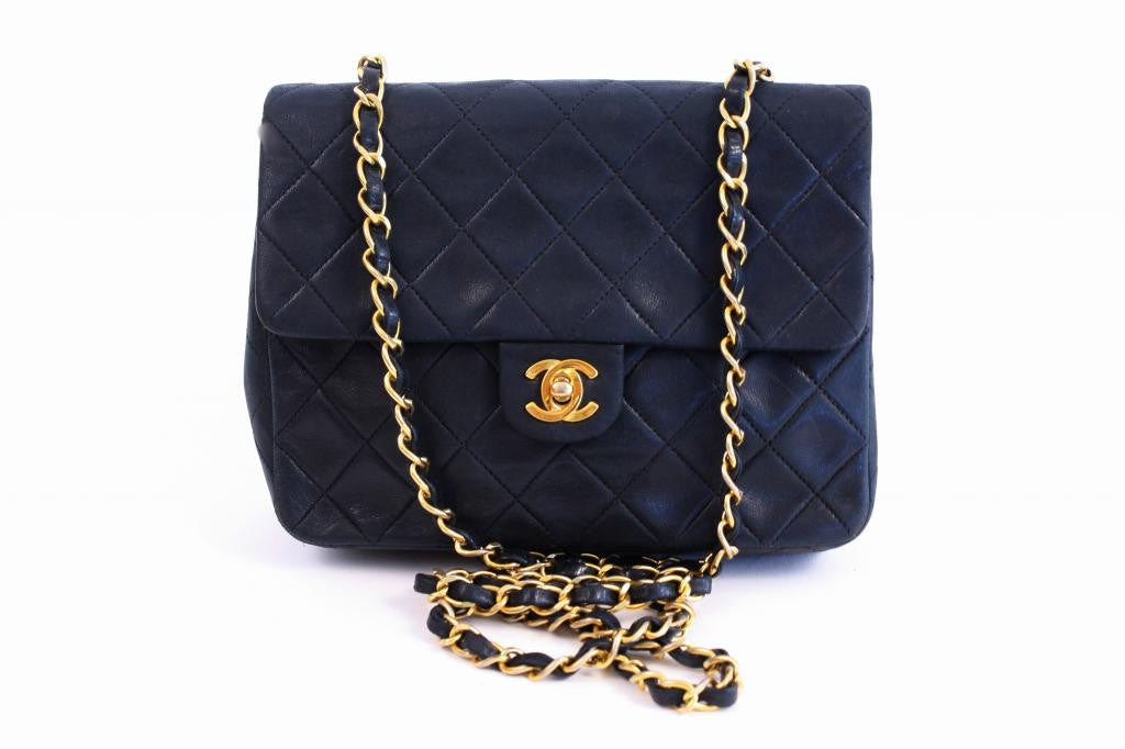 Vintage Chanel Black Small Flap Handbag