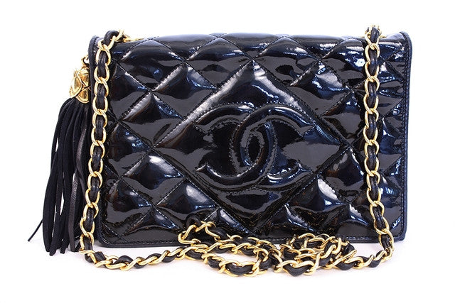 Vintage Chanel Patent Leather Flap Handbag