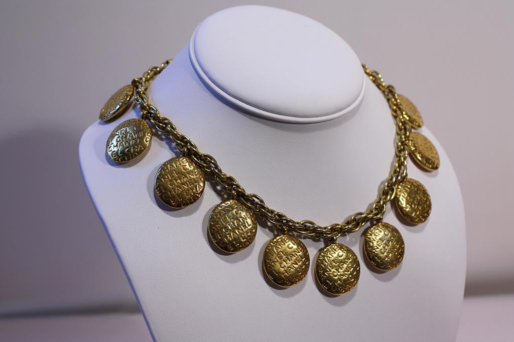 Vintage CHANEL Double-Sided Medallion Necklace