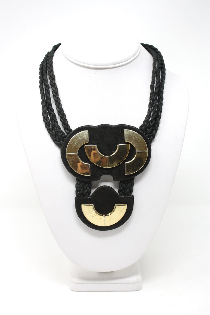 Vintage 70's Leather Necklace
