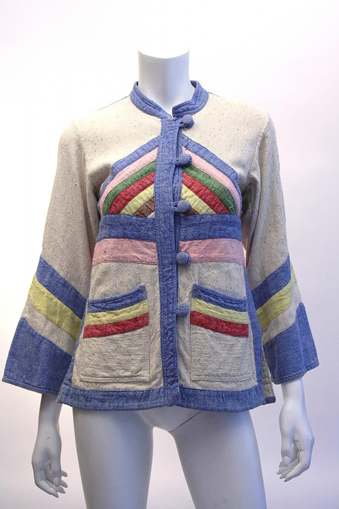 Vintage 70's Cotton Patchwork Jacket