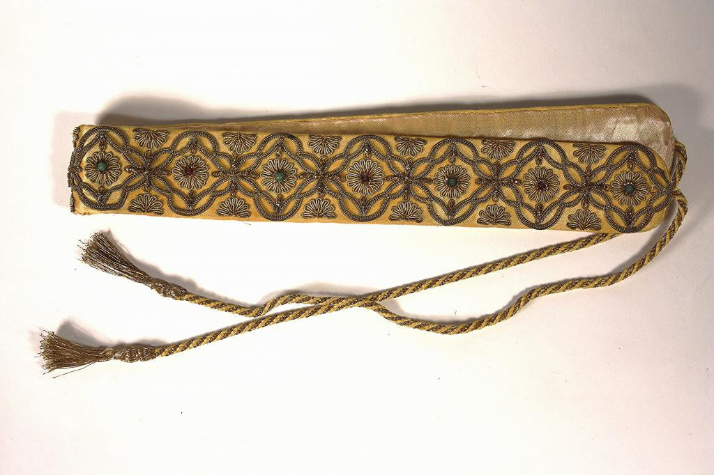 Vintage Silk & Decorative Metal Belt