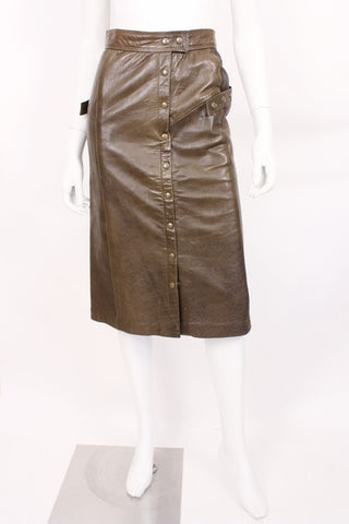 Vintage Leather Skirt