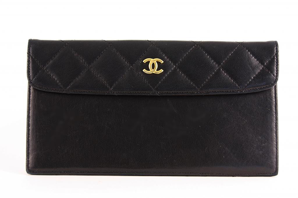 Vintage Chanel Lambskin Wallet Clutch