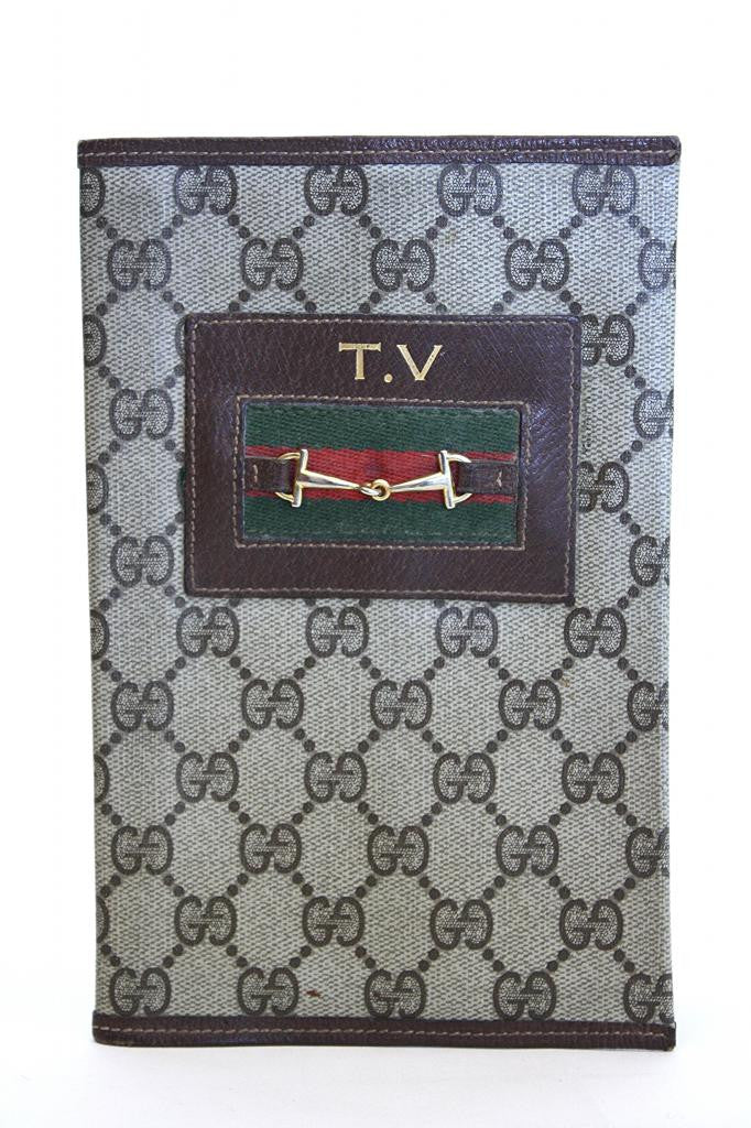 1970s GUCCI TV Guide Cover or Document Holder