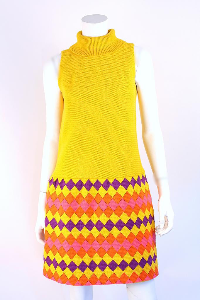 Vintage 60's Youth Guild Crochet Dress