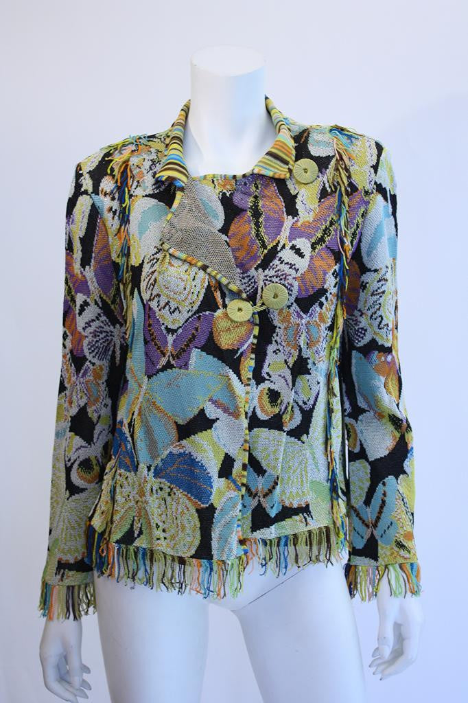 MISSONI Butterfly Weave Jacket with Fringe