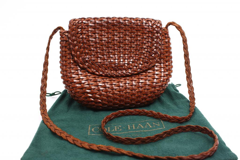 Vintage Cole Haan Woven Leather Handbag