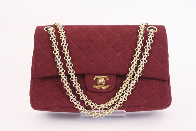 Vintage Chanel Burgundy Double Flap Bag
