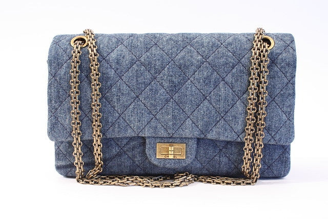 Chanel 2.55 Denim Double Flap Bag