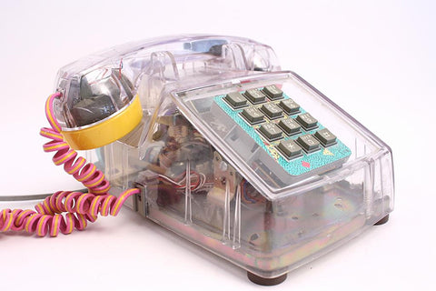 Vintage 80's Lucite Phone