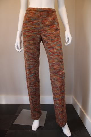 MISSONI Orange Label Signature Weave Wool Pants or Leggings