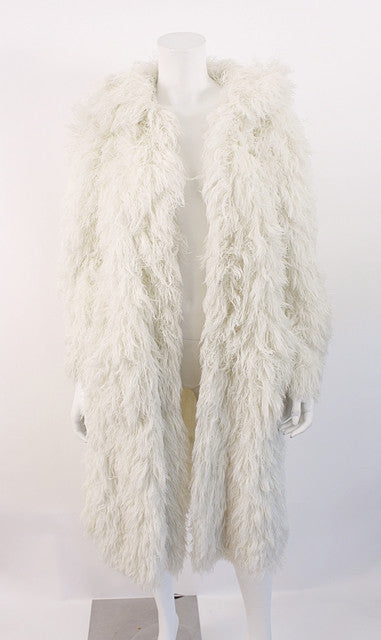 Vintage French Arissa Fuzzy String Coat