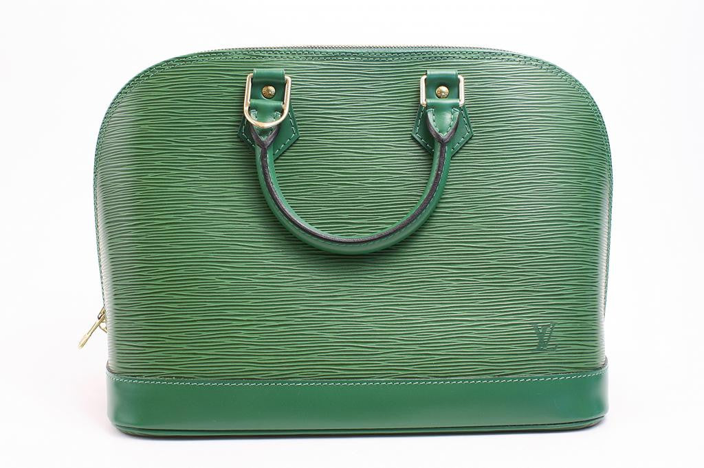 Authentic Louis Vuitton Green Epi Alma Bag