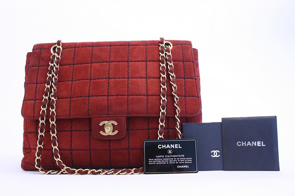 Vintage Chanel Red Flap Handbag