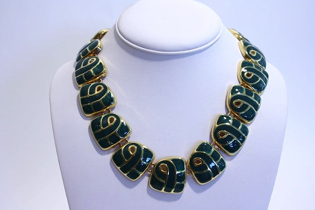 Vintage Gold and Emerald Necklace