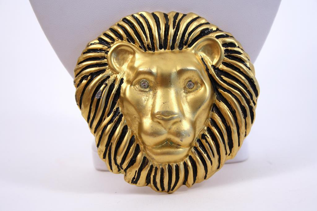 Vintage Lion Head Belt Buckle