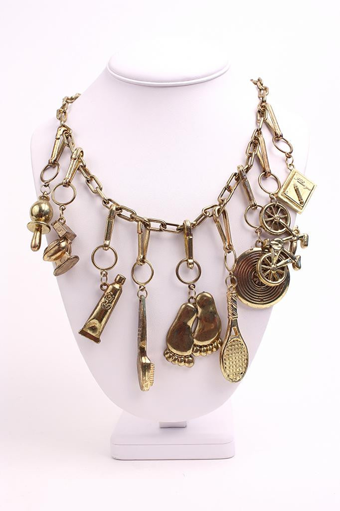 Vintage 80's Charm Necklace