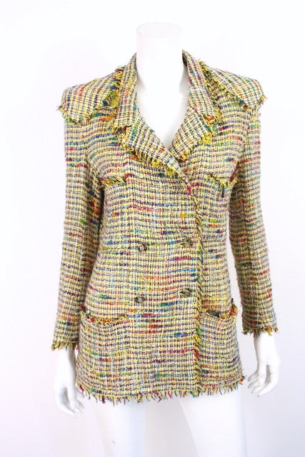 Vintage Chanel Rainbow Fringe Jacket