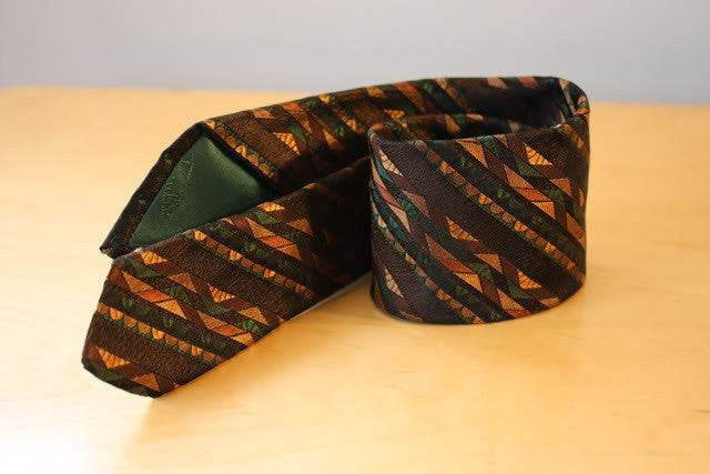 Vintage EMILIO PUCCI Silk Abstract Weave Tie