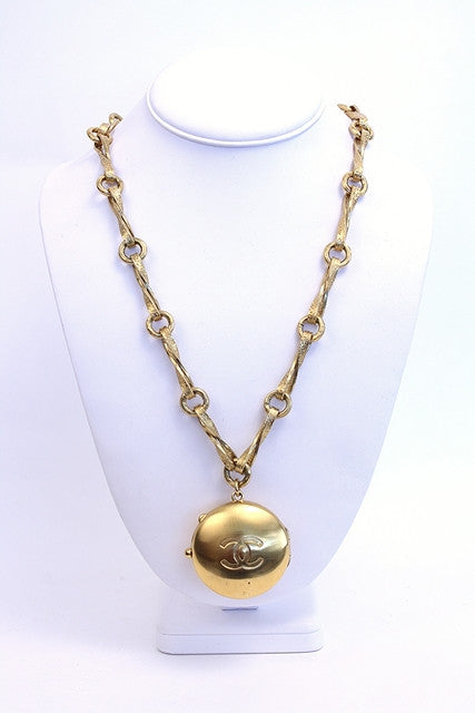 Rare Vintage Chanel Gold Locket Necklace
