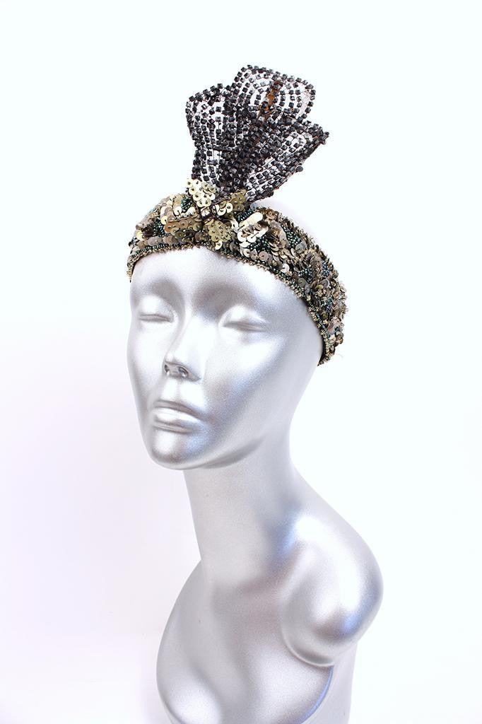 Rare Vintage 20's Flapper Headpiece