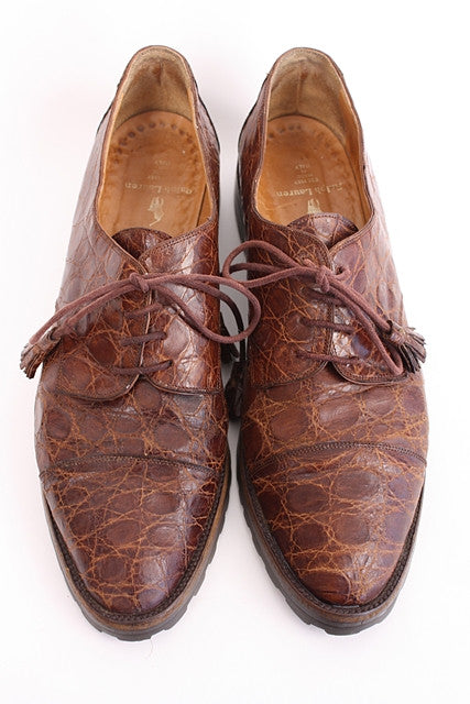 Vintage Ralph Lauren Alligator Brogues Shoes