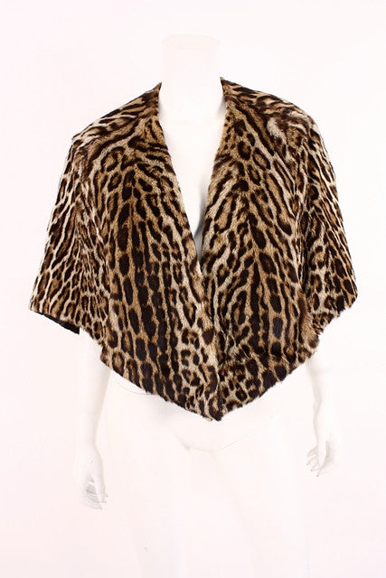Vintage 50's Cat Fur Stole Cape