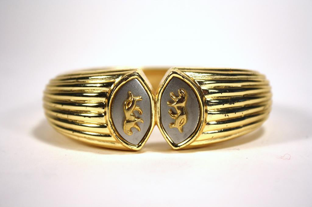 Vintage Double Panther Gold Bracelet