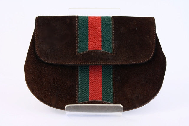 Vintage Gucci Suede Clutch Bag