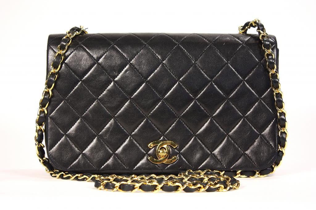 Vintage Chanel Classic Black Quilted Flap Bag