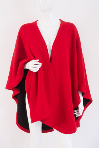 Vintage 70's PIERRE CARDIN Wool Cape Wrap